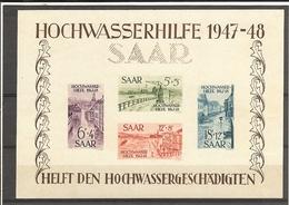 Sarre / SAAR_ Bloc N°1- 1947/48  ( Neuf  ) Côte 800.€ - Blocs-feuillets