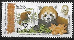 TONGA  N° 1465 * *   ( Cote 4.50e )  Gandhi Panda Roux Ours - Bears