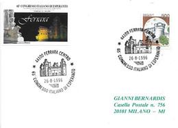 ITALIA - 1996 FERRARA 65° Congresso Di Esperanto - Castello Di Ferrara - Esperanto