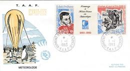 TAAF PREMIER JOUR 1993 183A Hommage à Météo France 01-01-1993 Terre Adélie - FDC