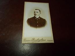 B724   Foto Cartonata Cm10,5x6,5  Militare Cesare Barbaglia Torino - Non Classificati