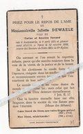 JULIETTE DEWAELE ° AUDENAERDE 1874 + YPRES 1939 / FILLE DE CARLOS ET EMERINE FERRAND - Devotion Images