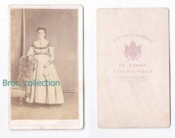 Photo Cdv D'une Femme, Photographe Ch. Braud, Buenos Aires, Album Seguin, Circa 1875 - Anciennes (Av. 1900)