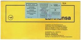 Ticket/Billet D'Avion. Lufthansa. Brussels/Frankfurt/Brussels/ 1971. - Billets D'embarquement D'avion