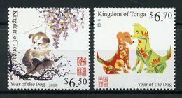 TONGA 2018 - Nouvel An Chinois, Année Du Chien - 2 Val Neufs // Mnh // CV €17.50 - Tonga (1970-...)