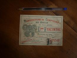 Vers 1900 :  Manufacture De Comptoirs En étain En Tous Genres- ETIENNE HYACINTHE à Lyon----  Etc - 1800 – 1899