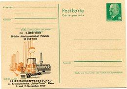 """ALLEMAGNE ORIENTALE ENTIER POSTAL NEUF AVEC ILLUSTRATION EN HOMMAGE DE........ """" JOLIOT - CURIE """"........ - Premio Nobel"""