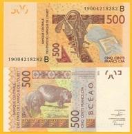 West African States 500 Francs Benin (B) P-219B 2019 UNC Banknote - Estados De Africa Occidental