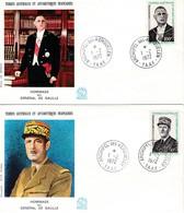 TAAF PREMIER JOUR 1972 46 + 47 De Gaulle - 2 FDC - 01-02-1972 Kerguelen - FDC