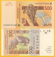 West African States 500 Francs Niger (H) P-619H 2019 UNC Banknote - États D'Afrique De L'Ouest