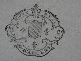 1742 Généralité D'Amiens (Somme) Papier Timbré N°157 De 8 Den. Luxe - Seals Of Generality