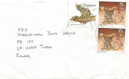 Zimbabwe 1991 Rimura Small-spotted Genet Cat Stool Cover - Zimbabwe (1980-...)