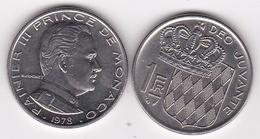 MONACO. 1 FRANC 1977 RAINIER III - 1960-2001 Nouveaux Francs