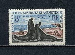 TAAF N° 13C * Neuf MH Légère Trace De Charnière C 17 € Faune Animaux Eléphants De Mer - Unused Stamps