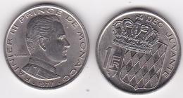 MONACO. 1 FRANC 1977 RAINIER III - Monaco