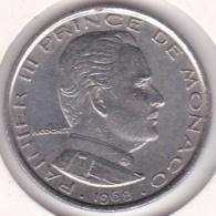 MONACO. 1 FRANC 1968 RAINIER III - 1960-2001 Nouveaux Francs