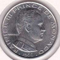 MONACO. 1 FRANC 1966 RAINIER III - 1960-2001 Nouveaux Francs