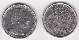 MONACO. 1 FRANC 1960 RAINIER III - 1960-2001 Nouveaux Francs