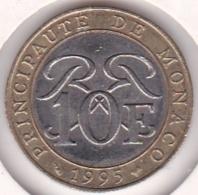 MONACO. 10 FRANCS 1995. RAINIER III. Bimétallique - Monaco