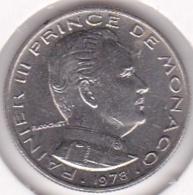 MONACO. 1/2 FRANC 1978 RAINIER III - 1960-2001 Nieuwe Frank