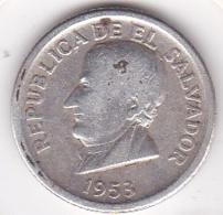 EL SALVADOR. 25 Centavos 1953. Argent .KM# 137 - Salvador