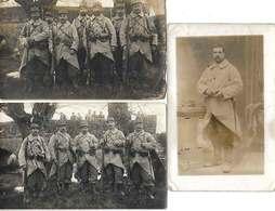 77 Courpalay 1915 WW1 Lot De 3 Carte-photos Légendées 261 RIT Dos Scanné Sans éditeur - Francia