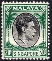Singapore 1948 P. 14 20c SG9 - Unmounted Mint - Singapore (...-1959)