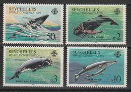 SEYCHELLES - N° 565/8  ** (1984)  Protection Des Baleines - Seychelles (1976-...)