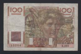 Banconota Francia 100 Francs 1949 - 1871-1952 Antichi Franchi Circolanti Nel XX Secolo