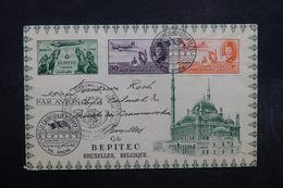 EGYPTE - Enveloppe Du Betipec Par Vol Spécial Du Caire Pour Bruxelles En 1949 - L 32502 - Égypte