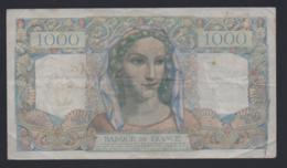Banconota Francia 1000 Francs 1946 - 1871-1952 Antichi Franchi Circolanti Nel XX Secolo