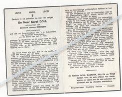 KAREL DOLL ° RIJKHOVEN 1908 + BILZEN 1966 / JOANNA DAERDEN / ERE ONDERWIJZER - Devotion Images