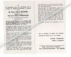LIBERT BUCKINX ° SCHALKHOVEN 1899 + TONGEREN 1976 / MARIA TIMMERMANS - Devotion Images