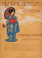 """Madame Butterfly De G.Puccini Chant Et Piano """"Sur La Mer Calmée-acte II Solo Soprano """"G.Ricordi E.C.éditeurs état Moyen - Scores & Partitions"""