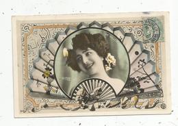Cp, Spectacle , Artiste,  DE VILLERS , Reutlinger, Voyagée 1907 - Artistes
