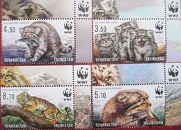 2017 Tajikistan Fauna  WWF  Wild  Cats  4v   MNH - Tadjikistan