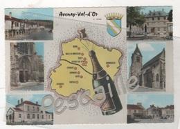 51 MARNE - CP 6 VUES AVENAY VAL D'OR - BOUTEILLE DE CHAMPAGNE - CIM N° 6 C - CIRCULEE EN 1972 - Otros Municipios