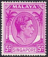 Singapore 1948 P. 17.5x18 5c SG19a  - Unmounted Mint - Singapore (...-1959)