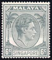 Singapore 1948 P. 17.5x18 6c SG21  - Unmounted Mint - Singapore (...-1959)