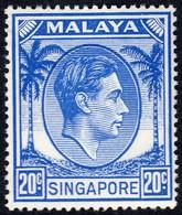 Singapore 1948 P. 17.5x18 20c SG24a  - Unmounted Mint - Singapore (...-1959)
