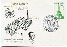 FRANCE ENTIER POSTAL AVEC ILLUSTRATION ET CACHET EN HOMMAGE A IRENE ET FREDERIC JOLIOT CURIE - Premio Nobel