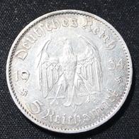 5 REICHSMARK   1934   SILVER  2 SCANS - [ 4] 1933-1945 : Third Reich