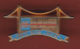 59287-pin's.Alfort Pompadour.EDF GDF.signé Decat Paris - EDF GDF