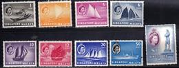 Singapore 1955 Three Low Values SG38/42/44  - Unmounted Mint - Singapore (...-1959)