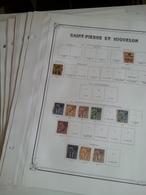 Lot N° 602 ST PIERRE ET MIQUELON Collection Sur Pages D'albums Neufs * Timbres Collés A 50 % - Stamps