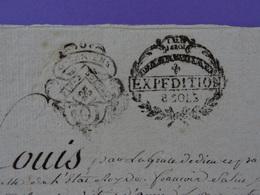 1791 Généralité D'Amiens (Somme) Papier Timbré Double Timbrage N°206+ Révolutionaire Expédition De 8 Sols Filigrane - Seals Of Generality