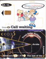 ARUBA - Total Solar Eclipse 1998, Call Waiting, CN : 863, 06/98, Used - Aruba