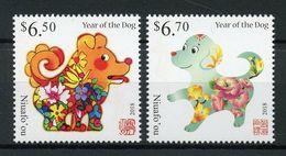 TONGA (Niuafo'ou) 2018 - Nouvel An Chinois, Année Du Chien - 2 Val Neufs // Mnh // CV €17.50 - Tonga (1970-...)
