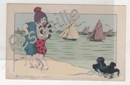CP ILLUSTRATEUR XAVIER SAGER - MAMAN MAMAN ... UN REQUIN ! - B.G. PARIS N° 540 - CIRCULEE EN 1913 - Sager, Xavier