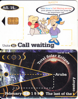 ARUBA - Total Solar Eclipse 1998, Call Waiting, CN : 864, 06/98, Used - Space